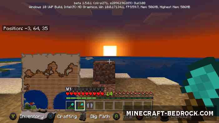Текстуры Minecraft Bedrock UI Enhancements Pack 1.4/13